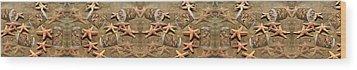 Seastar Large Banner Wood Print by Betsy Knapp