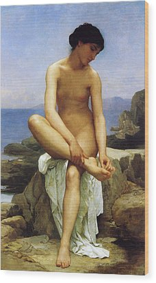Seated Bather Wood Print by William Bouguereau