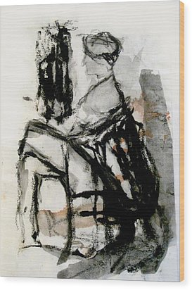 Seated Figure Wood Print by James Gallagher