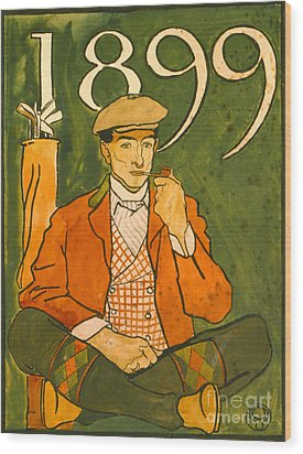 Seated Golfer 1899 Wood Print by Padre Art