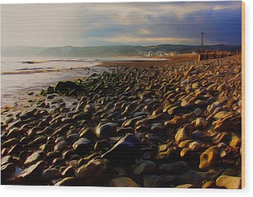 Wood Print featuring the digital art Seaton by Ron Harpham