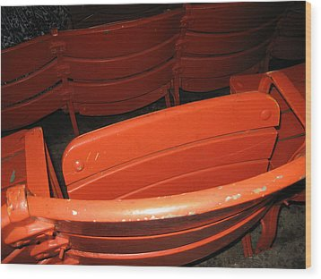 Seats - Nationals Park - 01132 Wood Print by DC Photographer