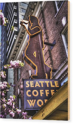 Seattle Coffee Works Wood Print by Spencer McDonald