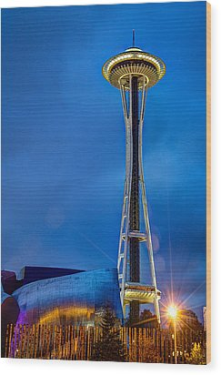 Wood Print featuring the photograph Seattle Impressions by Wade Brooks