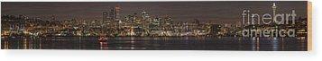 Seattle Lake Union Winter Reflection Wood Print
