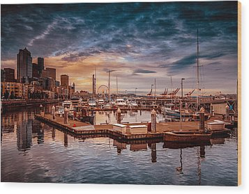 Seattle Marinescape. Wood Print