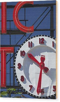 Seattle Market Sign Wood Print by Brian Jannsen