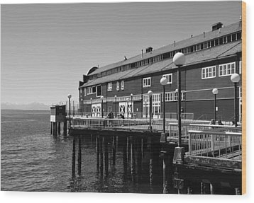 Wood Print featuring the photograph Seattle Pier by Kirt Tisdale