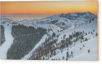 Seattle Ridge Sunset Wood Print