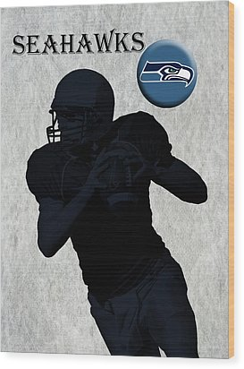 Seattle Seahawks Football Wood Print by David Dehner