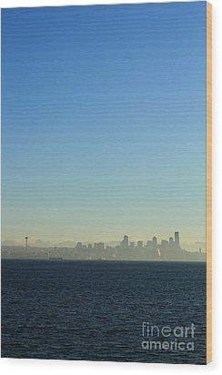 Seattle Skyline Wood Print by Hans Koepsell