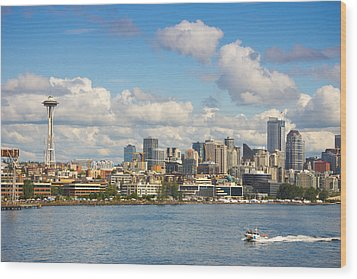 Seattle Skyline Wood Print