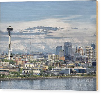 Seattle Skyline Wood Print by JRP Photography