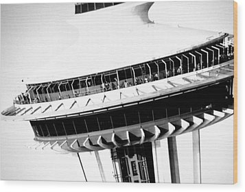 Wood Print featuring the photograph Seattle Space Needle Close Up by Amy Giacomelli