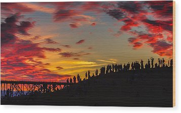 Seattle Summer Solstice Wood Print