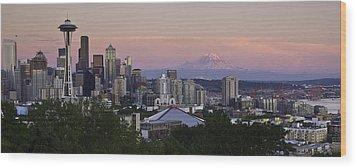 Seattle Sunset - Kerry Park Wood Print