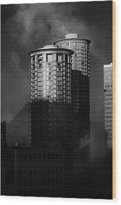 Seattle Towers Wood Print by Paul Bartoszek