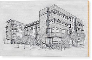 Seattle University Law School Wood Print by Inger Hutton