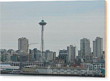 Seattle Washington Wood Print