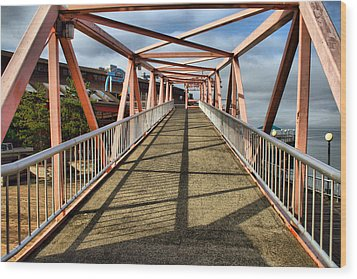 Wood Print featuring the photograph Seattle Waterfront Bridge by Bob Noble Photography