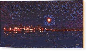 Seattle Waterfront, No. 1 Wood Print by James Kramer