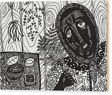 Sebastiana Wood Print by Sarah Loft