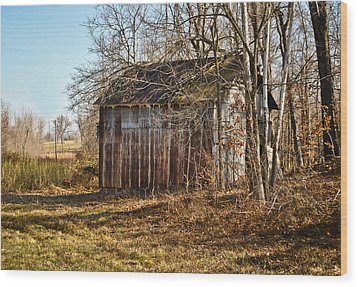 Secluded Barn Wood Print