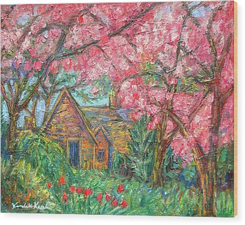 Secluded Home Wood Print by Kendall Kessler