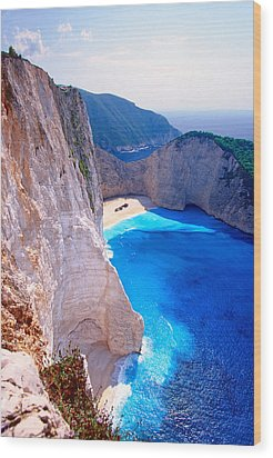 Secret Beach Wood Print by Aiolos Greek Collections