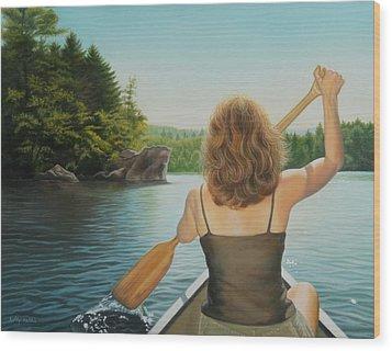 Secret Cove Wood Print by Holly Kallie