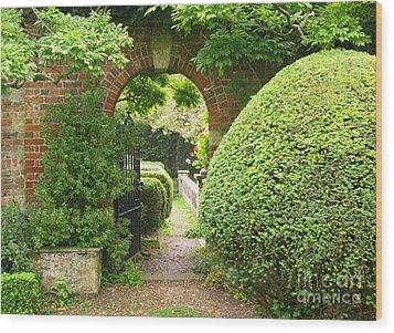 Secret English Garden Wood Print by Ann Horn