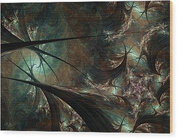 Secret Forest Wood Print by Kim Redd