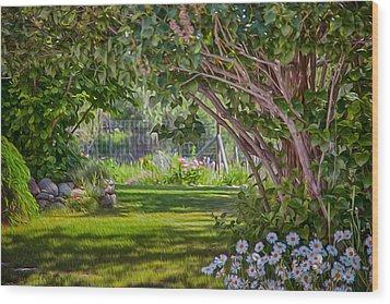 Secret Garden Wood Print by Omaste Witkowski