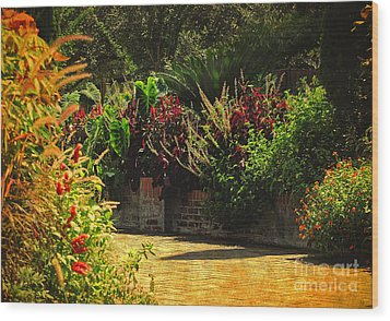 Wood Print featuring the photograph Secret Garden Path by Kathy Baccari