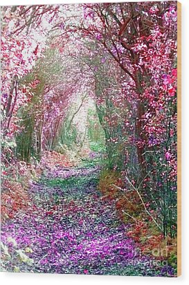 Wood Print featuring the photograph Secret Garden by Vicki Spindler