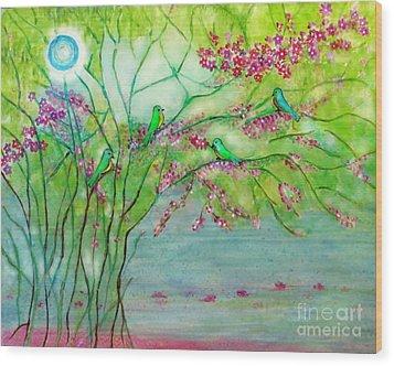Secret Paradise Inner Bliss Wood Print by Anjali Vaidya