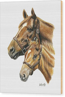 Secretariat And Grandson Innception Vt Wood Print
