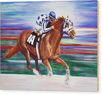 Secretariat  Wood Print by Jennifer Godshalk