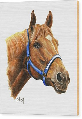 Secretariat With Halter Wood Print