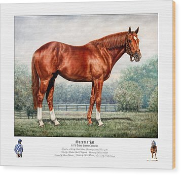 Secretariat Triple Crown Champion Wood Print by Thomas Allen Pauly