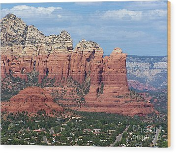Wood Print featuring the photograph Sedona 1 by Tom Doud
