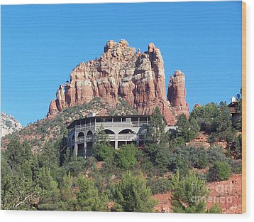 Wood Print featuring the photograph Sedona 4 by Tom Doud