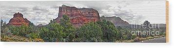 Sedona Arizona Bell Rock Panorama Wood Print by Gregory Dyer