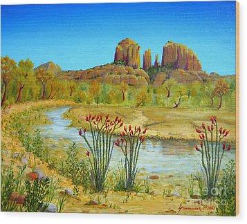 Sedona Arizona Wood Print by Jerome Stumphauzer