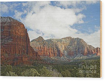 Sedona Arizona Landscape Wood Print by Nick  Boren