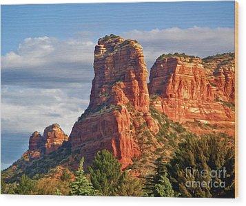 Sedona Arizona Mountain Peak Wood Print by Gregory Dyer