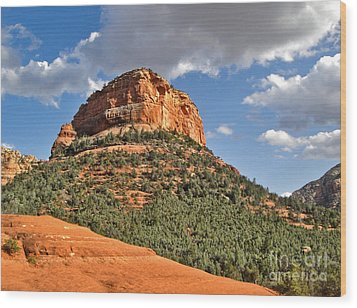 Sedona Arizona Mountain View Wood Print by Gregory Dyer