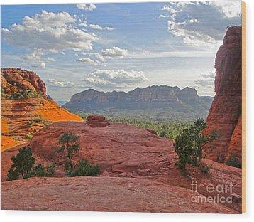 Sedona Arizona Mountains - 03 Wood Print by Gregory Dyer