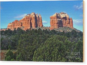 Sedona Arizona Mountains - 04 Wood Print by Gregory Dyer
