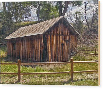 Sedona Arizona Old Barn Wood Print by Gregory Dyer